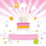 Amore dei bambini esso torta di compleanno Fotografie Stock Libere da Diritti