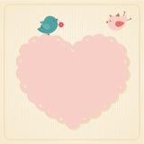 Amore dei biglietti di S. Valentino Fotografie Stock Libere da Diritti