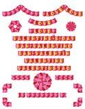 Amore dei confini di origami illustrazione di stock