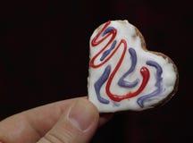 Amore dei cuori dei biscotti fotografie stock