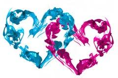 Amore dei cuori dell'inchiostro Immagine Stock Libera da Diritti