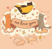 Amore dei gatti voi Fotografia Stock Libera da Diritti