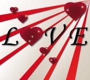 Amore del biglietto di S. Valentino Immagine Stock Libera da Diritti