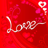 Amore del biglietto di S. Valentino Immagini Stock Libere da Diritti