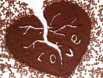 Amore del caffè. Fotografia Stock Libera da Diritti