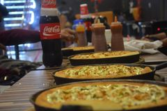 Amore del coke della pizza Immagine Stock