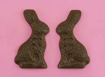 Amore del coniglietto del cioccolato Immagini Stock