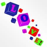 Amore del cubo di vettore Fotografia Stock