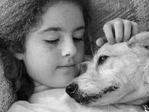 Amore del cucciolo Fotografia Stock