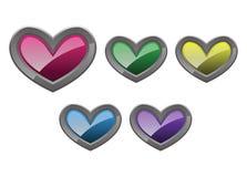 Amore del cuore Immagine Stock Libera da Diritti