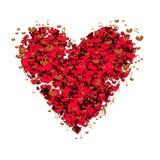 Amore del cuore con le note, illustrazioni romantiche di amore di amore Fotografie Stock