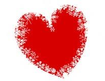 Amore del cuore del fiocco di neve di natale Fotografia Stock Libera da Diritti