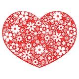 Amore del cuore - il cuore fiorisce la raccolta Fotografia Stock Libera da Diritti