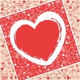 Amore del cuore - raccolta di scarabocchi Immagine Stock Libera da Diritti
