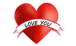 Amore del cuore voi Fotografia Stock