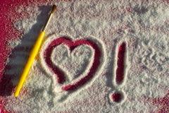 Amore del disegno in zucchero Fotografie Stock