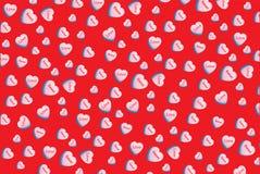 Amore del dolce della carta da parati della caramella del cuore di conversazione di amore del biglietto di S. Valentino Fotografia Stock