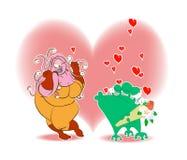 Amore del giorno del biglietto di S. Valentino da spazio lontano immagini stock libere da diritti
