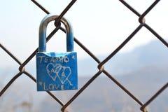 Amore del lucchetto Fotografia Stock Libera da Diritti