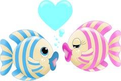 Amore del pesce Immagine Stock