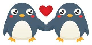 Amore del pinguino Fotografia Stock Libera da Diritti