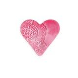 amore del plasticine del cuore dell'artigianato Fotografie Stock
