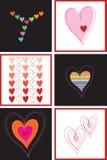 Amore del Rainbow e quadrato dei cuori Immagini Stock