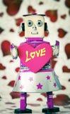 Amore del robot Immagini Stock