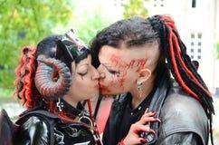 Amore del vampiro Immagini Stock
