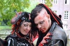 Amore del vampiro immagine stock