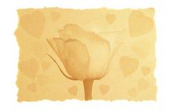 Amore dell'annata e scheda del biglietto di S. Valentino. Fotografie Stock Libere da Diritti