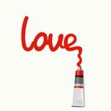 Amore dell'iscrizione - illustrazione Immagini Stock