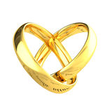Amore dell'oro Immagini Stock