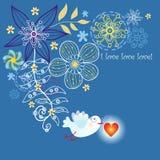 Amore dell'uccellino di festa Fotografie Stock Libere da Diritti