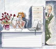 Amore dell'ufficio Immagini Stock