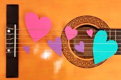 Amore della chitarra Immagini Stock