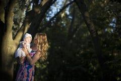 Amore della figlia della madre Fotografia Stock