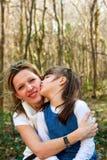 Amore della figlia e della madre Fotografie Stock