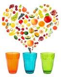 Amore della frutta Fotografie Stock