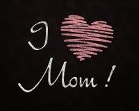 Amore della lavagna per la mamma Immagini Stock