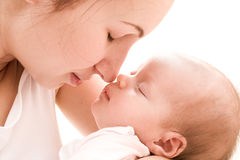 Amore della madre Fotografia Stock