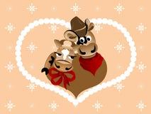 Amore della mucca Immagini Stock