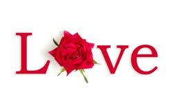 Amore della Rosa Immagini Stock Libere da Diritti