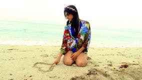 Amore della spiaggia Immagini Stock