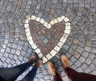 Amore delle coppie del cuore Fotografia Stock