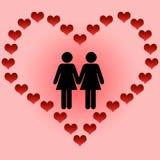 Amore delle lesbiche Immagini Stock Libere da Diritti