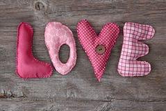 Amore delle lettere Immagini Stock