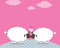 Amore delle pecore Immagini Stock Libere da Diritti