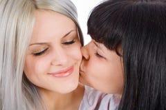 Amore delle sorelle Fotografie Stock Libere da Diritti