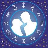 Amore dello zodiaco Fotografia Stock
